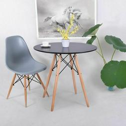 Modern Round Shaped  Balcony Dining Table Mid Century Solid