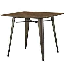 Modern Square Wooden Dining Table Top Bistro Cafe Table Pub