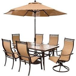 Hanover Outdoor Furniture 7 Piece Monaco High Back Sling Din