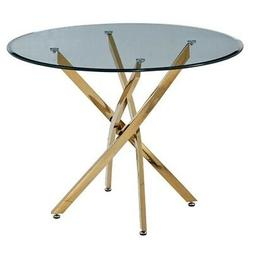 """Artisan Furniture Monahan 40"""" Round Glass Dining Table With"""