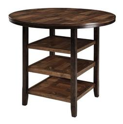 Moriann Dark Brown Round DRM Counter Table