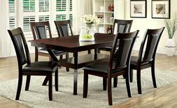 Furniture of America Mullican 7 Piece Display Top Dining Tab