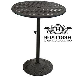 "Heritage Outdoor Living Nassau Cast Aluminum 30"" Bar Table -"
