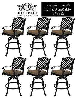 Heritage Outdoor Living Nassau Cast Aluminum Barstool - Set