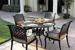 Darlee 48 Inch Round Patio Table Dining Table
