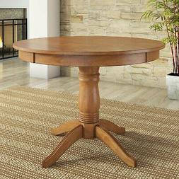 """Dining Table Natural Finish Lexington Solid Wood 42"""" Round P"""