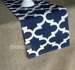 navy blue table runner moroccan wedding table