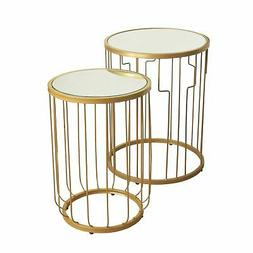 Nesting Tables Gold Mirrored - HomePop