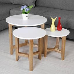 Nesting Tables Set, LSCUKOO Modern Design Decor Side Table C