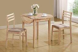NEW 3 Piece Dinette Drop Leaf Table Dining Set For 2 Chairs