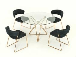 NEW 5 piece Modern Dining Room Set Furniture - Round Table &