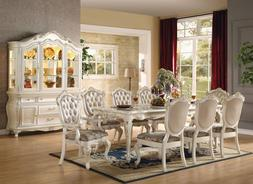 NEW 9PC CHANTELLE FORMAL FRENCH PEARL WHITE GOLD FINISH WOOD