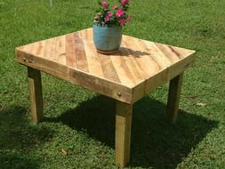 New rustic wood pallet dining/coffee table