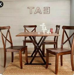New Solid Wood Dining Table Drop Leaves Versatile Farmhouse
