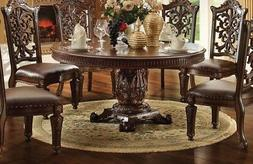 """New Vendome Formal Ornate 60"""" Wood Top Round Dining Table In"""