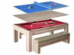 Blue Wave Products Newport Pool Table Combo Set With Benches