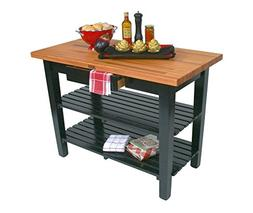 John Boos OC Oak Country Table - Blended Butcher Block Top,