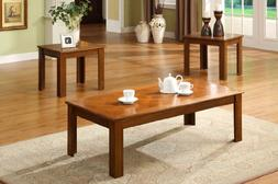 3 Pc. Occasional Table Set in Medium Oak by Furniture of Ame