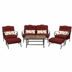 Hanover OCEANA6PC-RED Oceana 6 Piece Seating Set, Red