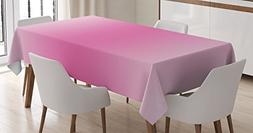 Ombre Tablecloth by Ambesonne, Fairytale Cotton Candy Inspir