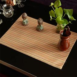 Orange Fabric Placemats Jacquard Place Mats For Dining Table