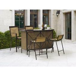 OUTDOOR BAR SET BAR HEIGHT DINING PATIO SET NEW FREE SHIPPIN