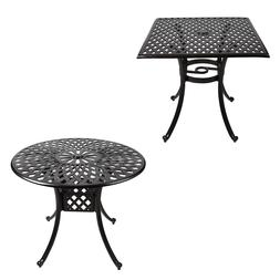 Outdoor Cast Aluminum Dining Table Patio Furniture Garden Br