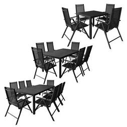 vidaXL Outdoor Dining Set WPC Outdoor Patio Table Folding Ch