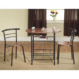 Oval Bistro 3 Piece Compact Dining Set