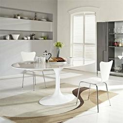 Hawthorne Collections Oval Dining Table in White