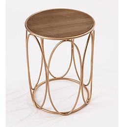 InnerSpace® Oval Side Table with Wood Tabletop