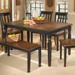 owingsville black brown rectangular dining