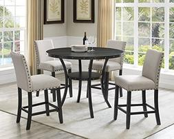 Roundhill Furniture P162TA Biony Dining Collection Espresso