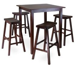 Winsome's Parkland 5-Piece Square High/Pub Table Set in Anti
