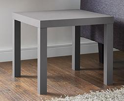 DHP Parsons Modern End Table, Multi-use and Toolless Assembl