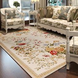 Pastoral Flower Carpets For Living Room Countryside Home Bed
