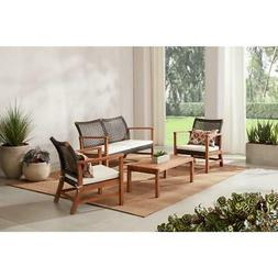 Patio Conversation Seating Set Wicker Outdoor Furniture Off