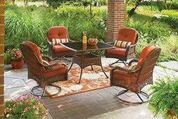 5-Piece Patio Dining Set, Seats 4, deck, chairs, comfort, lo
