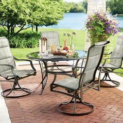Hampton Bay 5-Piece Outdoor Patio Dining Set Padded W/ Chair