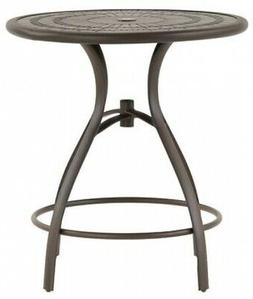 patio dining table round modern aluminum top