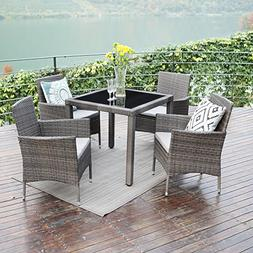Patio Dining Table Set,Wisteria Lane 5 PCS Outdoor Upgrade w