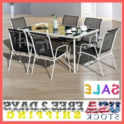 Patio Furniture Dining Set 7 Piece Garden Yard Outdoor Backy