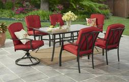 Patio Table Dining Set Outdoor Furniture Conversion 7 PC Cus