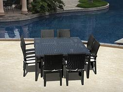 Outdoor Patio Wicker Furniture New All Weather Resin 9-Piece