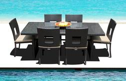 Outdoor Patio Wicker Furniture All Weather Resin New 7-Piece