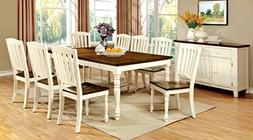 Furniture of America Pauline 9-Piece Cottage Style Dining Se