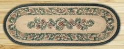 13in. x 48in. Pinecone Oval Patch Runner