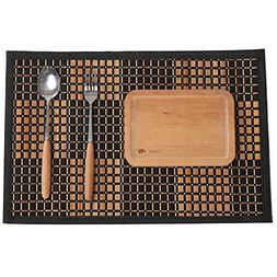 Marscool Placemat for Kitchen Table,Bamboo Placemat Stain-Re