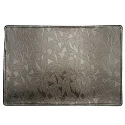 Placemats Fabric for Dining Table Grey  Rectangular Home Kit