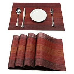 Pauwer Placemats Set of 6 Heat Insulation Stain Resistant Pl